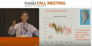 AGU Fall Meeting 2014: Jim White: abrupt climate change