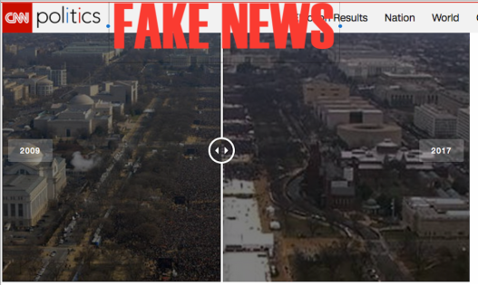 CNN FAke Inauguration pictures comparison