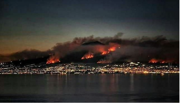 Mount Vesuvius wild fire 2017 image: thelocal.it