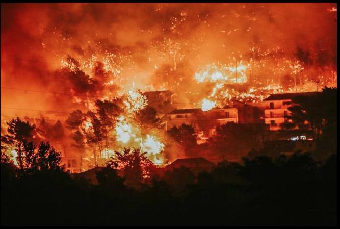 Wild fires in Spilt, Croatia 2017