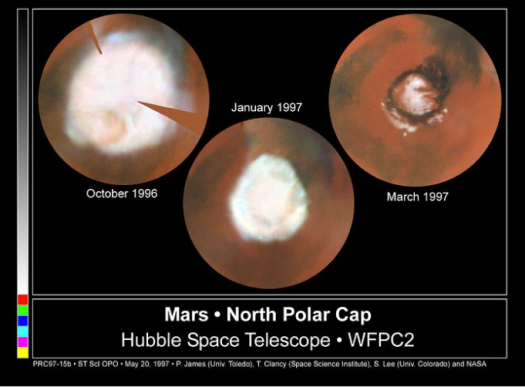 Mars North Polar Cap 1997