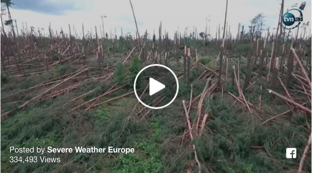 storm damage Poland 2017