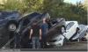 Mud flow car pile up Crimean Aug 2017