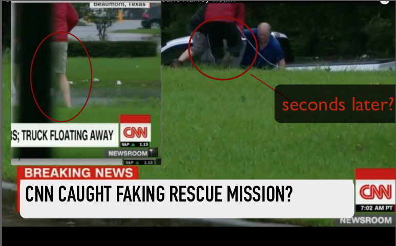 CNN Caught Faking Rescue Mission?