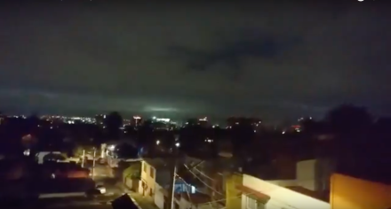 Earthquake lights Mexico 8-9-2017