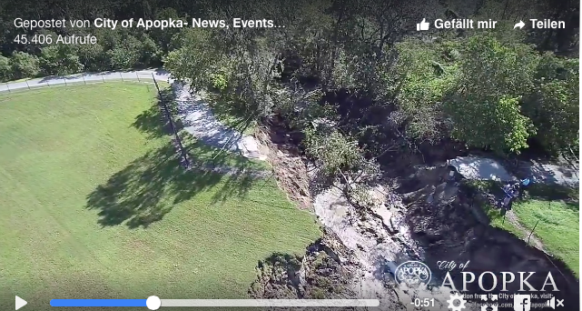 Florida Sinkhole after Hurricane Irma