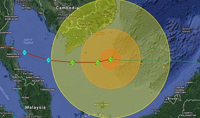Typhoon Tembin 12-25-2017