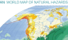 world map of natural hazards detail