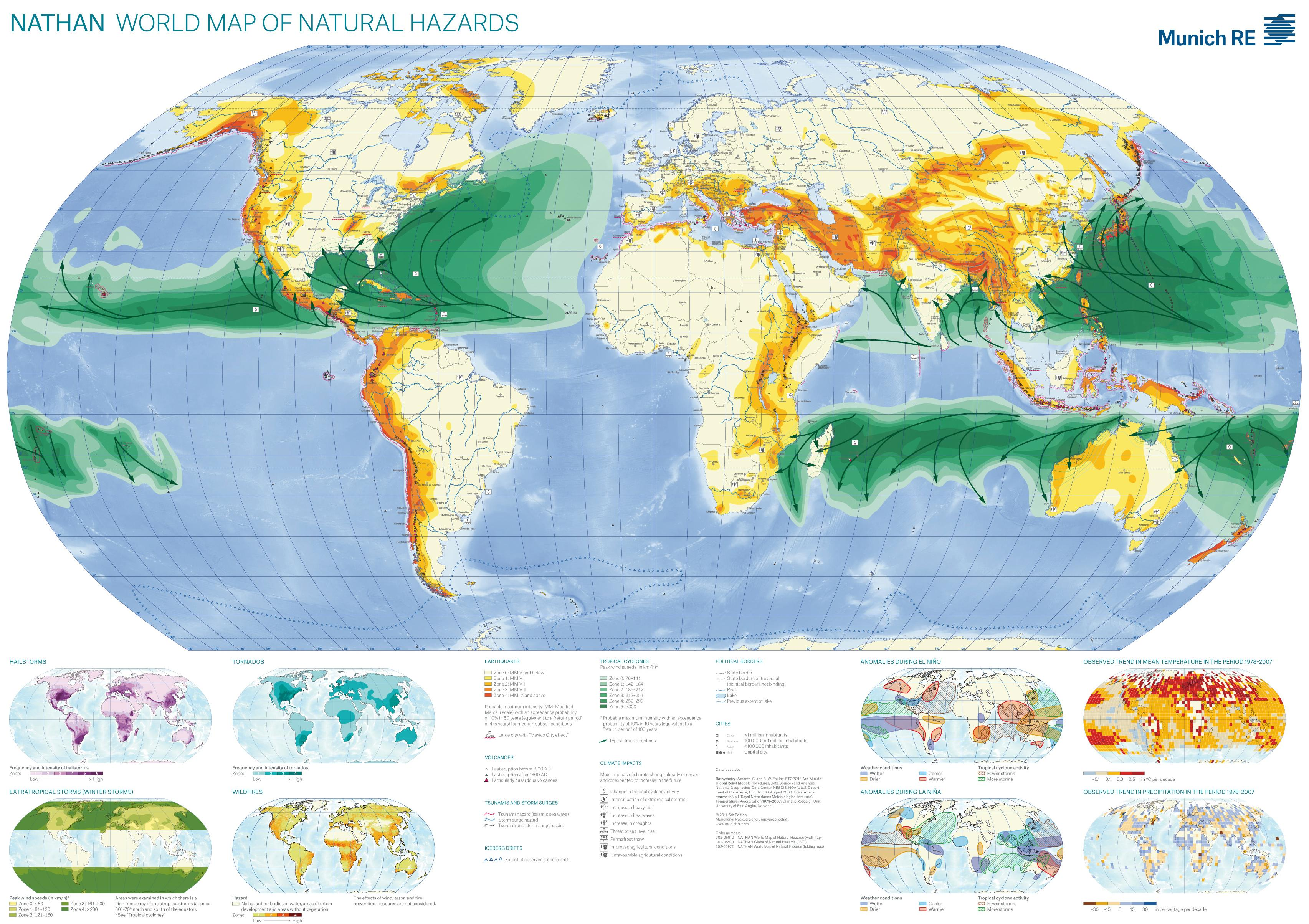 The 100 Map Of Earth.Natural Hazard World Map Abrupt Earth Changes