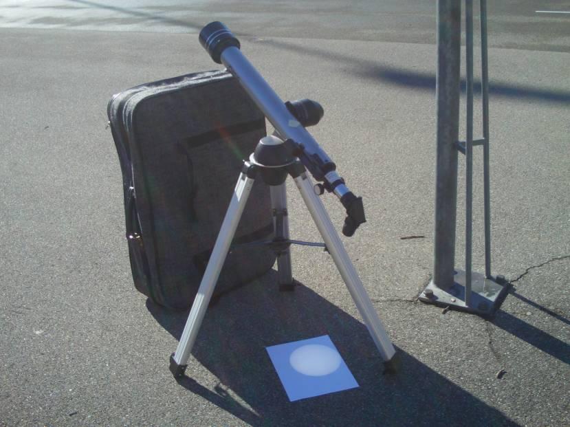 Sun spot observation with teleskop