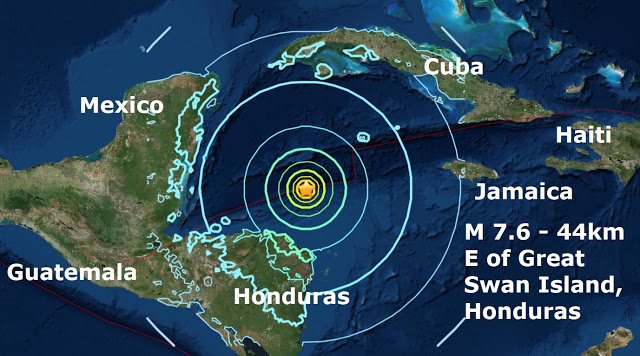 Earthquake Honduras 1-10-2018