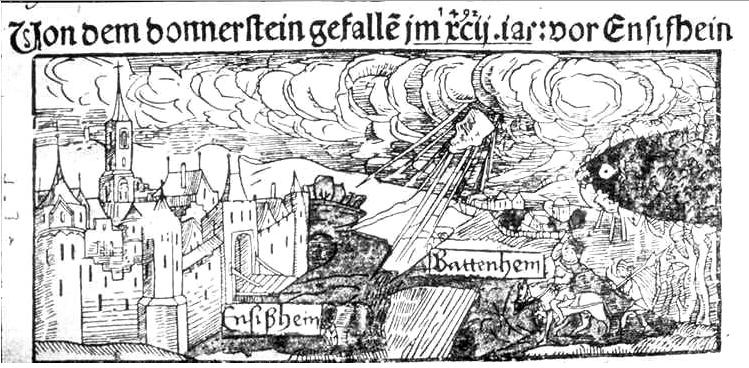 Meteor Donnerstein Fall of Ensisheim, 1492