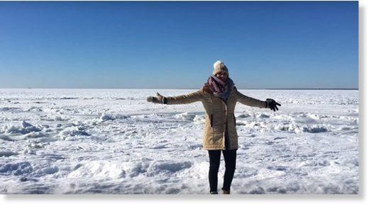 The Ocean Has Frozen Over in Massachusetts