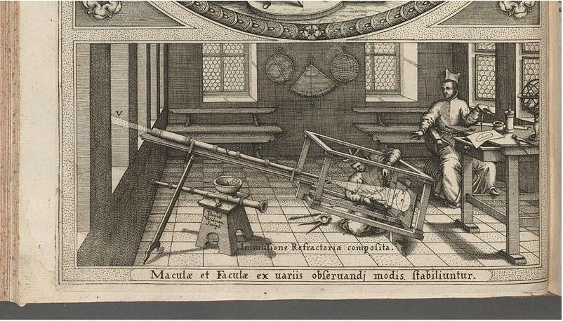 Sunspot observation about 1625