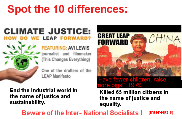 The 10 differences, Climate Socialism/ Fascism