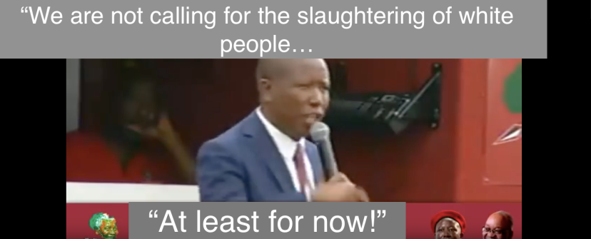 "South Africa:""We are not calling for the slaughtering of white people…"