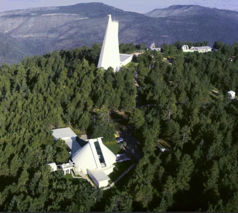 Aerial view of the Sunspot Solar Observatory site on Sacramento Peak in New Mexico. Sunspot is part of the National Solar Observatory, which is funded by the US National Science Foundation. Credit: National Solar Observatory/NSF