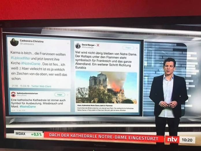 Notre Dame FIre: radical Muslims and Leftists cheering online