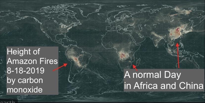 Carbon monoxide 8-18-2019 Amazone Fires
