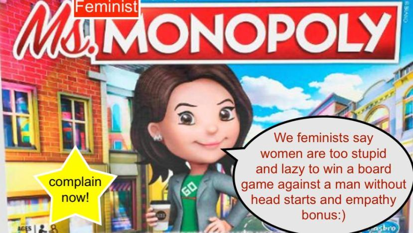 Feminist Ms.Monopoly is sexist