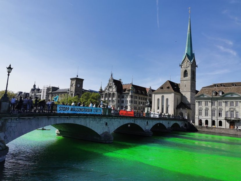 Zurich River Limmat Sep 10 2019 Extinction Rebellion