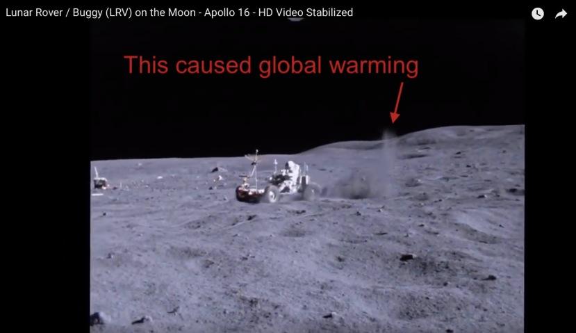 Lunar rover kicking up dust