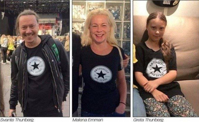 Greta Thunberg and Parents Antifa