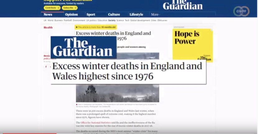 winter deaths because of climate policies England