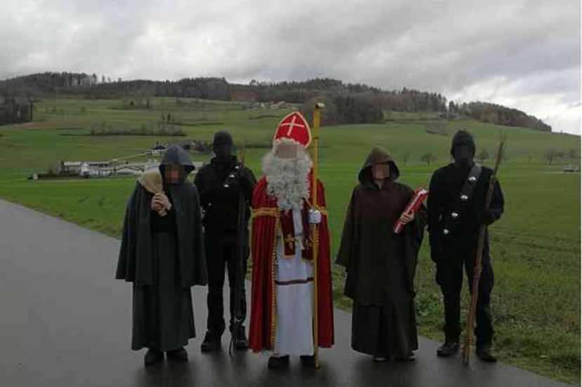 Albanian student stabs Swiss Santa Claus servant, image Blick.ch