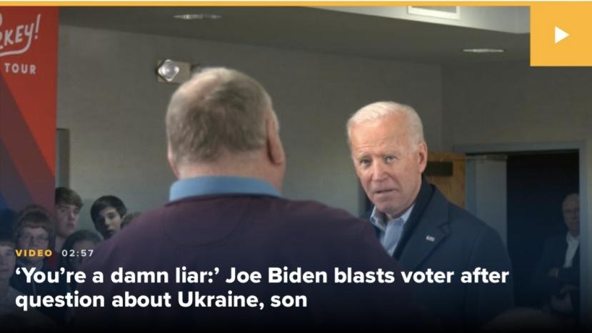 """Biden snaps : """"You're a damn liar! listen, fat...!"""""""