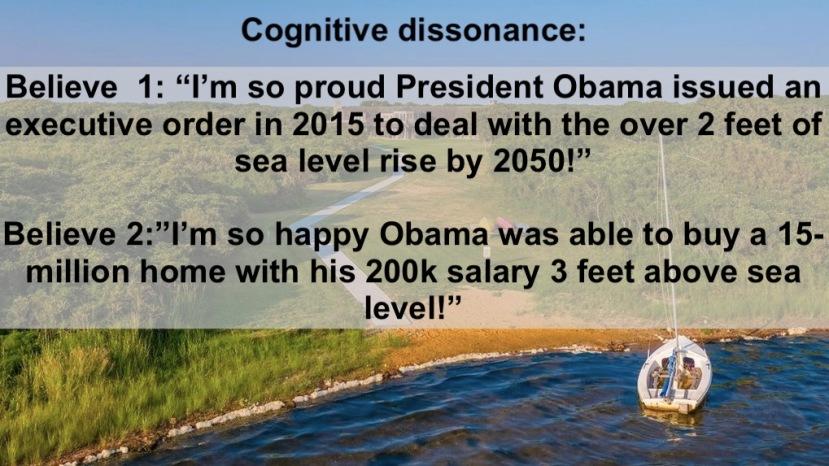 Obama lea levels rising!