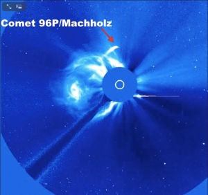 Comet 96P:Machholz swinging past the Sun