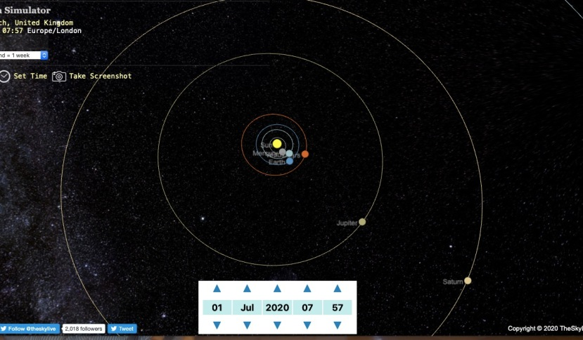 planets alignment 1st July 2020