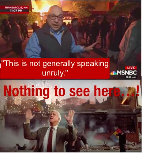 MSNBC not unruly ritos arson antifa