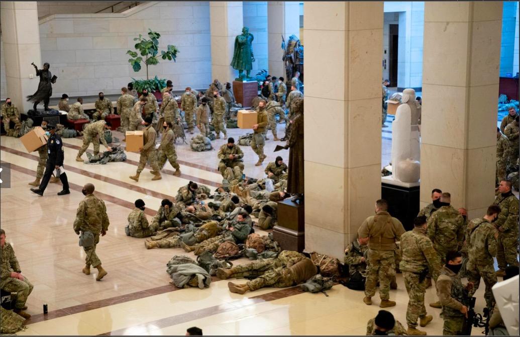 National Guard at Capitol 14 Jan 2021